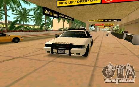 GTA V Sheriff Cruiser für GTA San Andreas zurück linke Ansicht