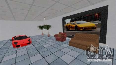 Salon de l'automobile Lamborghini pour GTA 4 sixième écran
