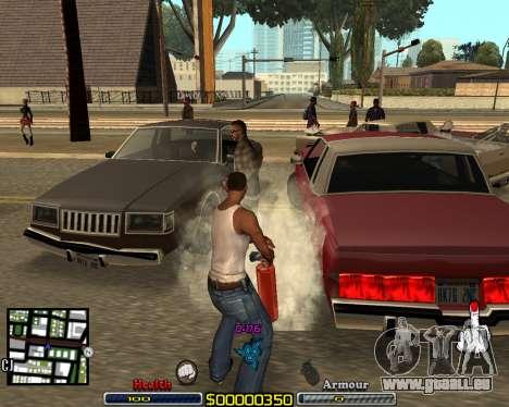 C-HUD by qrt pour GTA San Andreas deuxième écran
