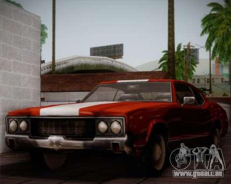 Sabre Turbo für GTA San Andreas obere Ansicht