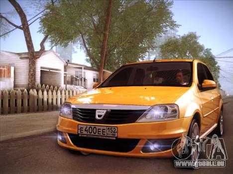 Dacia Logan GrayEdit pour GTA San Andreas vue de côté