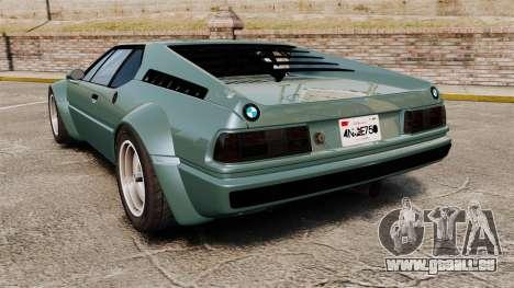 BMW M1 [EPM] pour GTA 4 Vue arrière de la gauche