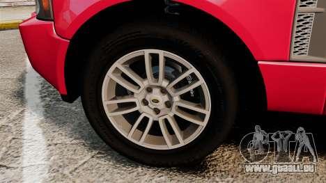 Range Rover TDV8 Vogue pour GTA 4 Vue arrière