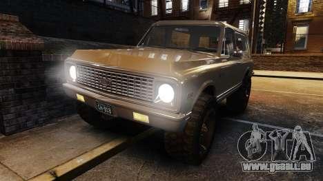 Chevrolet Blazer K5 1972 für GTA 4 Unteransicht