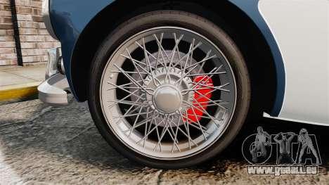 Austin-Healey 3000 Mk III 1965 für GTA 4 Rückansicht