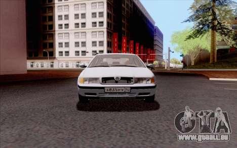 Skoda Octavia pour GTA San Andreas vue arrière