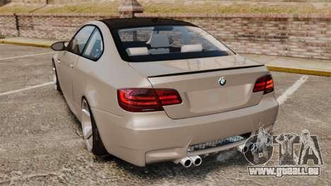 BMW M3 E92 2008 pour GTA 4 Vue arrière de la gauche