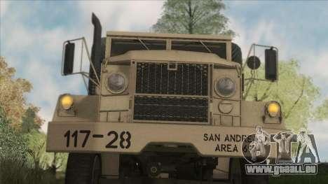 AM General M35A2 1950 für GTA San Andreas Innenansicht