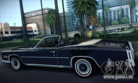 Cadillac Eldorado 1978 Convertible pour GTA San Andreas vue de droite