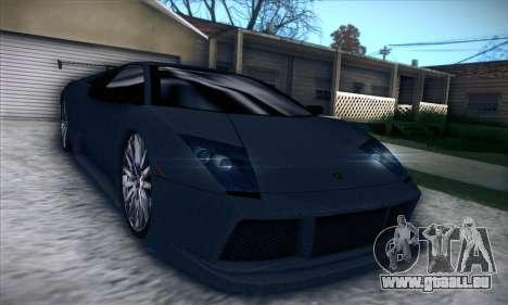 Lamborghini Murcielago GT Carbone pour GTA San Andreas vue intérieure