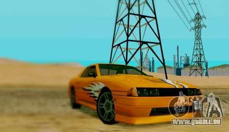 Les travaux de peinture pour Elegy pour GTA San Andreas laissé vue