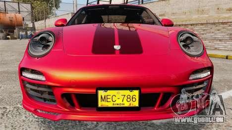 Porsche 911 Sport Classic 2010 pour GTA 4 est une vue de dessous