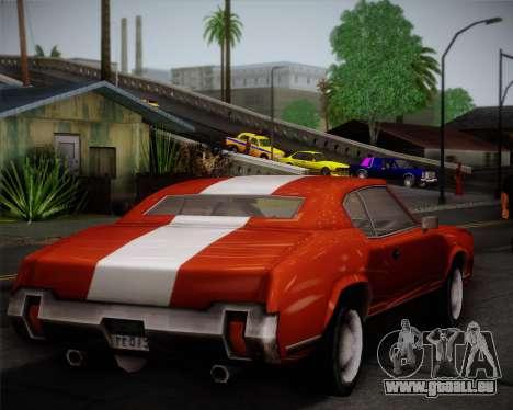 Sabre Turbo pour GTA San Andreas vue intérieure