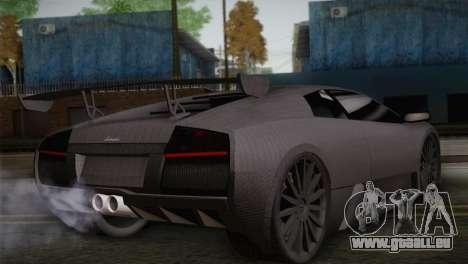 Lamborghini Murcielago GT Carbone pour GTA San Andreas laissé vue