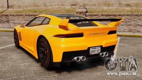 GTA V Inuetero Coquette Hardtop DTD pour GTA 4 Vue arrière de la gauche