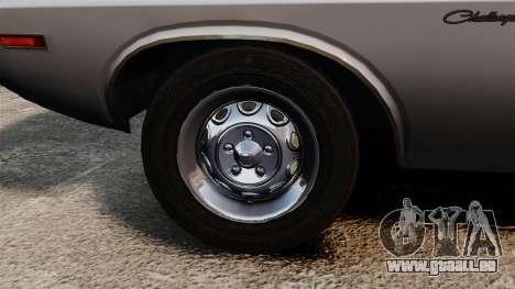 Dodge Challenger 1971 v1 pour GTA 4 Vue arrière