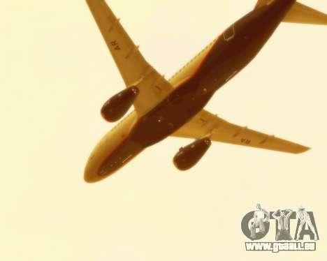 Suchoi Superjet 100-95 Aeroflot für GTA San Andreas Innenansicht