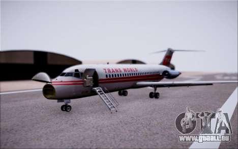 McDonnel Douglas DC-9-10 pour GTA San Andreas vue de côté