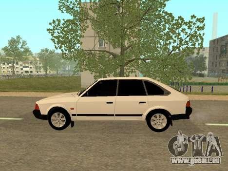 Moskvich 2141 für GTA San Andreas zurück linke Ansicht