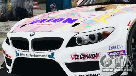 BMW Z4 GT3 2010 pour GTA 4 Vue arrière
