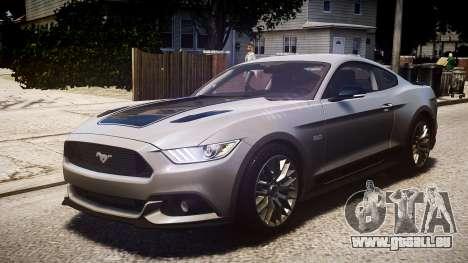 Ford Mustang GT 2015 für GTA 4 Innenansicht