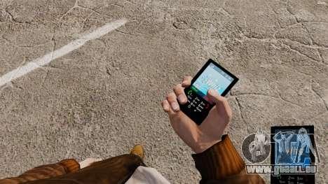 Le thème pour le téléphone Whiz bleue pour GTA 4