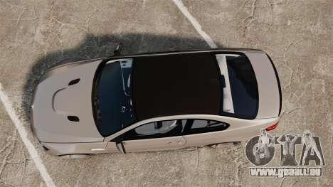 BMW M3 E92 2008 pour GTA 4 est un droit