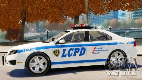 Ford Fusion LCPD 2011 [ELS] pour GTA 4 Vue arrière de la gauche