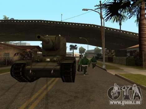KV-2 pour GTA San Andreas vue arrière
