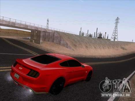 Ford Mustang GT 2015 pour GTA San Andreas vue de dessous