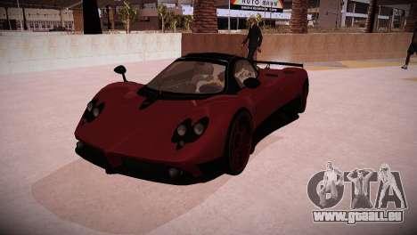 Pagani Zonda für GTA San Andreas zurück linke Ansicht