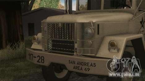 AM General M35A2 1950 für GTA San Andreas Rückansicht