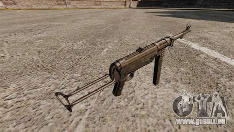 Pistolet mitrailleur MP 40 pour GTA 4 secondes d'écran