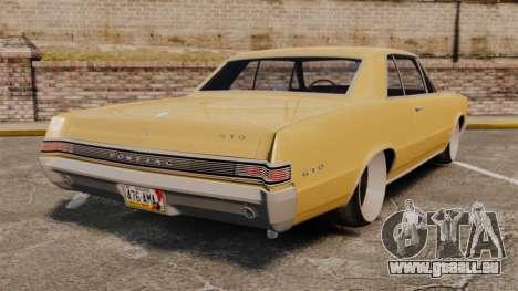 Pontiac GTO 1965 für GTA 4 hinten links Ansicht