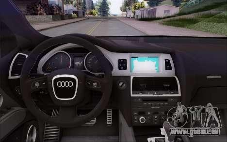 Audi Q7 Winter pour GTA San Andreas vue de droite