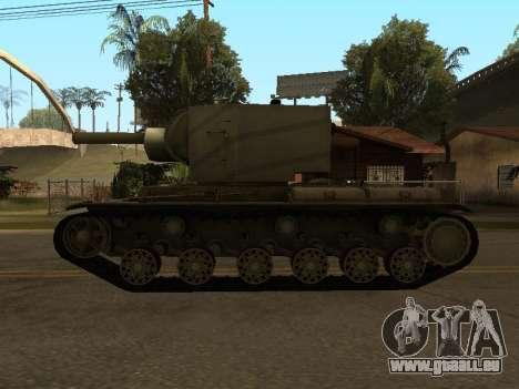 KV-2 pour GTA San Andreas vue de droite