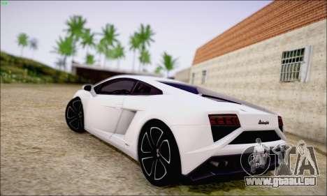 Lamborghini Gallardo LP560-4 2013 pour GTA San Andreas sur la vue arrière gauche