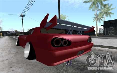 Tuned Elegy pour GTA San Andreas vue de droite
