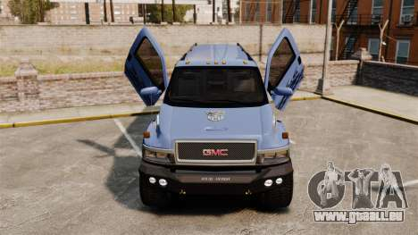 GMC Tough Guy pour GTA 4 est une vue de l'intérieur