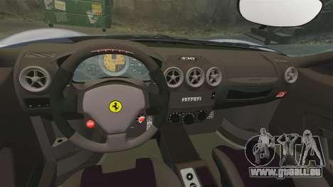 Ferrari F430 Scuderia 2007 pour GTA 4 est une vue de l'intérieur
