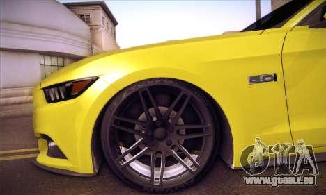 Ford Mustang 2015 Swag pour GTA San Andreas vue de côté