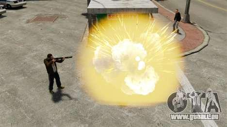 Explodierende Kugeln für GTA 4 Sekunden Bildschirm