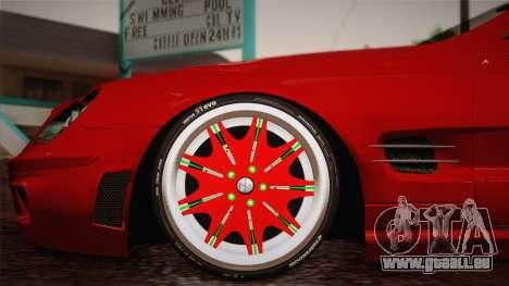 Mercedes-Benz SL65 AMG Racing Edition pour GTA San Andreas sur la vue arrière gauche