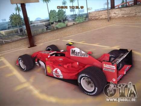 Ferrari F1 2005 pour GTA San Andreas sur la vue arrière gauche