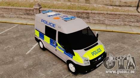 Ford Transit 2013 Police [ELS] pour GTA 4 est une vue de l'intérieur