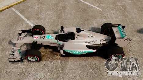 Mercedes AMG F1 W04 v6 für GTA 4 rechte Ansicht