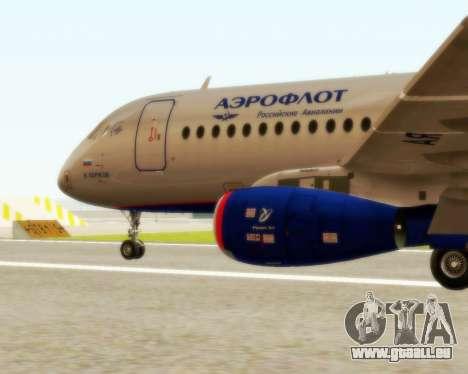 Sukhoi Superjet 100-95 Aeroflot pour GTA San Andreas laissé vue