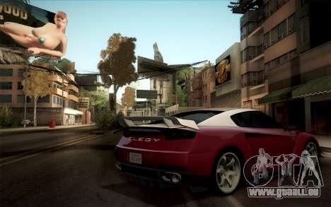 Elegy RH8 from GTA V pour GTA San Andreas vue de droite