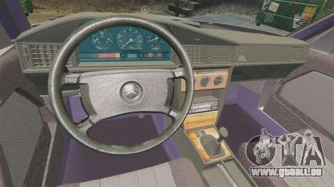 Mercedes-Benz E190 W201 für GTA 4 Seitenansicht