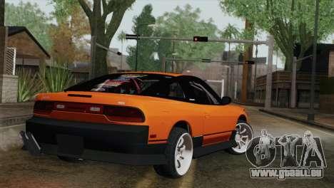 Nissan 240Sx Drift Edition pour GTA San Andreas laissé vue